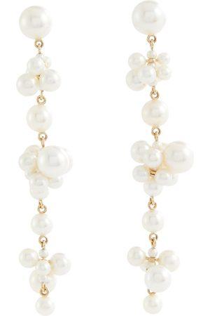 SOPHIE BILLE BRAHE Damen Ohrringe - Ohrringe Cellie Longue aus 14kt Gelbgold mit Süßwasserperlen