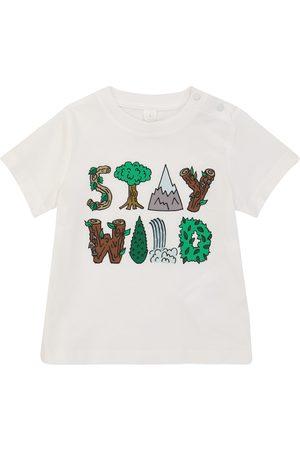 Stella McCartney Baby T-Shirt Stay Wild aus Baumwolle