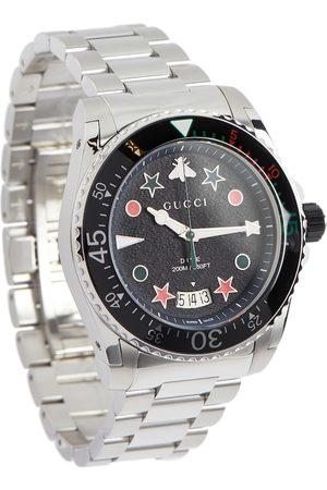 Gucci Uhr Dive 45 mm aus Edelstahl