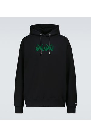 SACAI X KAWS Bedruckter Hoodie aus Baumwolle