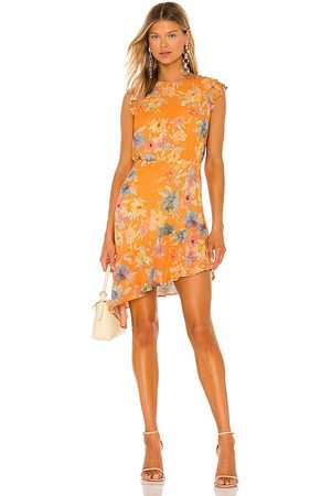 Amanda Uprichard Ibiza Dress in - Orange. Size L (also in XS, S, M).