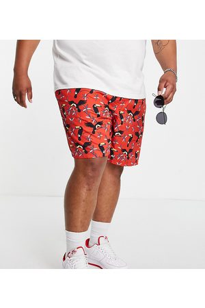 JACK & JONES Plus swimming shorts in coral-Pink