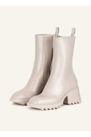 Chloé Damen Stiefeletten - Gummi-Boots Betty weiss