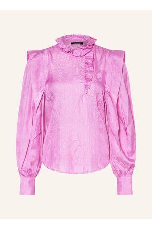 Isabel Marant Seidenbluse Chandra Mit Rüschenbesatz pink