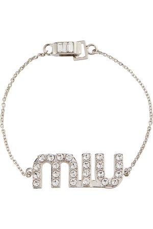 Miu Miu Damen Armbänder - Armband mit Kristallverzierung