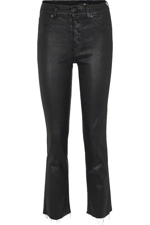 7 for all Mankind Damen Straight - High-Rise Cropped Jeans The Straight