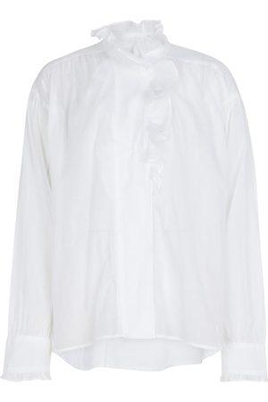 Isabel Marant, Étoile Damen Lange Ärmel - Gerüschte Bluse Pamias aus Baumwolle