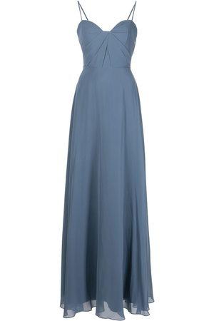 Marchesa Notte Long spaghetti-strap dress