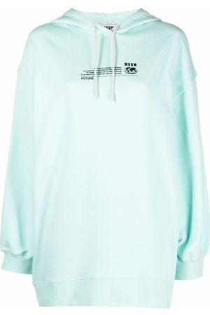 Msgm Damen Sweatshirts - Logo-print hoodie