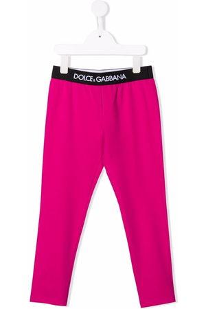 Dolce & Gabbana Mädchen Leggings & Treggings - Logo-waistband cotton leggings