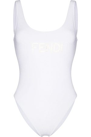 Fendi Damen Badeanzüge - Embroidered cut-out logo swimsuit