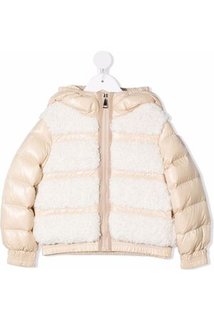 Moncler Mädchen Jacken - Contrasting-panel puffer jacket