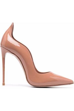 LE SILLA Damen Pumps - Wave-edge patent leather pumps