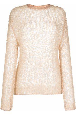 FORTE FORTE Textured open-knit jumper