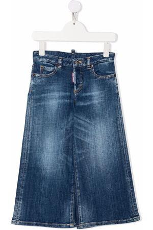 Dsquared2 Light-wash wide leg jeans