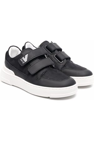 Emporio Armani Touch-strap low-top sneakers