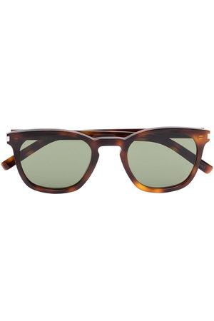 Saint Laurent Herren Sonnenbrillen - Square-frame tortoiseshell sunglasses