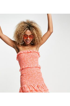 AsYou Damen Freizeitkleider - Ruched ruffle strapless mini dress in ditsy floral