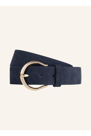 CONDOR Damen Gürtel - Ledergürtel blau