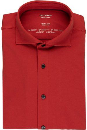Olymp Herren Business - Jerseyhemd Level Five 24/7 Body Fit orange