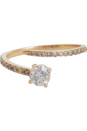 Ileana Makri Ring Grass Seed aus 18kt Gelbgold mit Diamanten