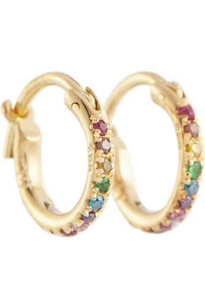 Ileana Makri Damen Ohrringe - Creolen aus 18kt Gelbgold mit Diamanten