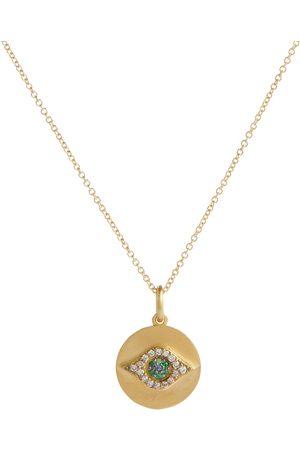 Ileana Makri Halskette Evil Eye aus 18kt Gelbgold mit Diamanten