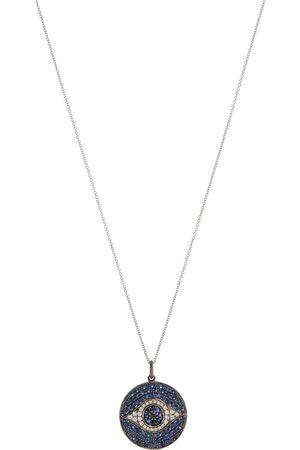 Ileana Makri Halskette Dawn aus 18kt Gelbgold mit Diamanten und Saphiren