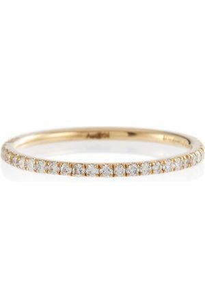 Ileana Makri Ring Thread Band aus 18kt Gelbgold mit Diamanten