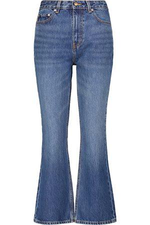 Ganni High-Rise Jeans mit geradem Bein