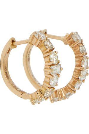 Ileana Makri Damen Ohrringe - Creolen Rivulet aus 18kt Gelbgold mit Diamanten