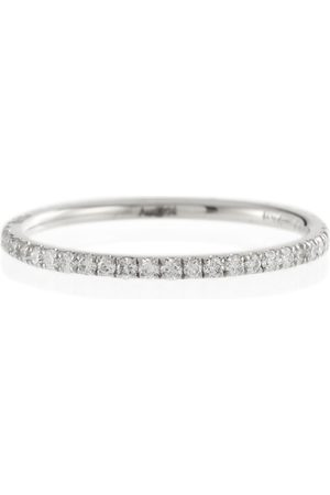 Ileana Makri Ring Thread Band aus 18kt Weißgold mit Diamanten