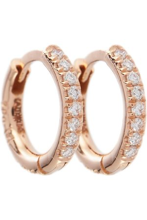 Ileana Makri Ohrringe New Mini Hoops aus 18kt Roségold mit Diamanten