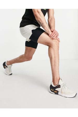 ASOS Icon 2-in-1 short with quick dry in stone-Neutral