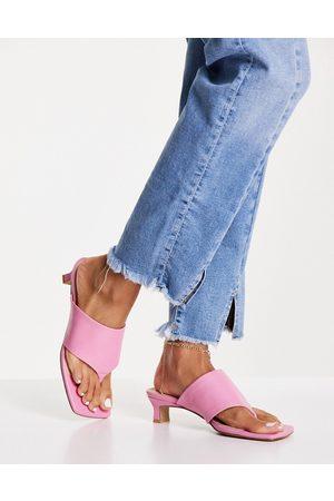 E8 By Miista Christy toe thong heeled mules in pink