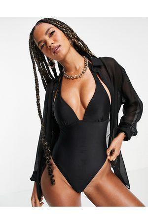 South Beach Halterneck swimsuit in black