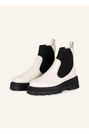 Jimmy Choo Damen Stiefeletten - Chelsea-Boots Clayton weiss