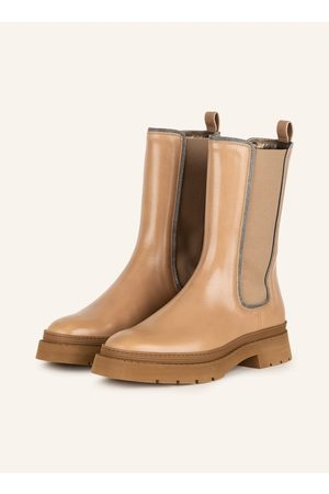 Brunello Cucinelli Damen Stiefeletten - Chelsea-Boots braun