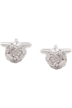 Lanvin Engraved-detail round cufflinks