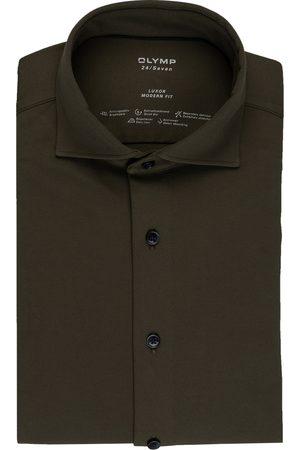 Olymp Herren Business - Jerseyhemd Luxor 24/7 Modern Fit gruen
