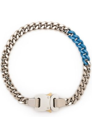 1017 ALYX 9SM Two-tone buckle curb chain necklace