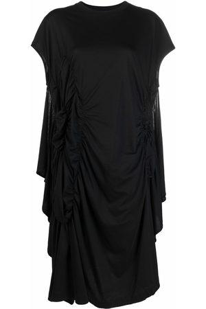 Simone Rocha Asymmetric ruched midi dress