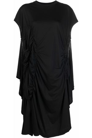 Simone Rocha Damen Asymmetrische Kleider - Asymmetric ruched midi dress