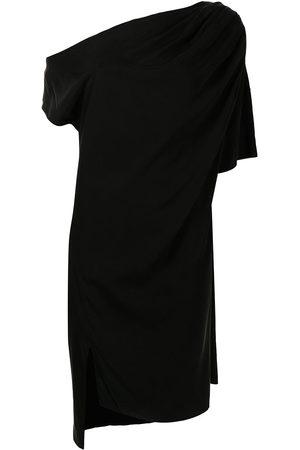 Lisa von Tang Damen Asymmetrische Kleider - Drapery asymmetric midi dress
