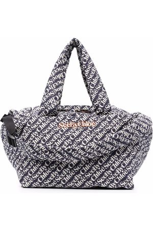 See by Chloé Damen Jumpsuits - All-over logo tote bag