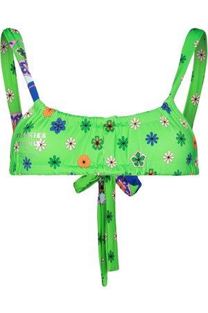 Frankies Bikinis Tia scarf-print bikini top