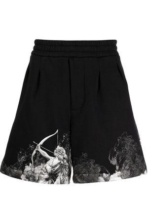Emporio Armani Herren Shorts - Cupid graphic-hem shorts