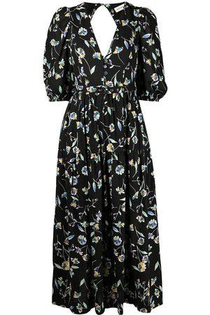 Nicholas Celie floral-print long dress