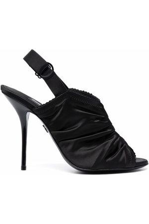 Dolce & Gabbana Damen Sandalen - Ruched stiletto sandals