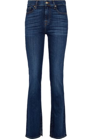 7 for all Mankind Damen Straight - Mid-Rise Jeans The Straight